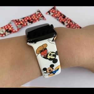 Iphone apple watch cartoon silicone Mickey strap